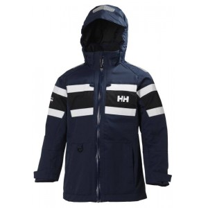 Mörkblå Jr Salt Jacket, Helly Hansen