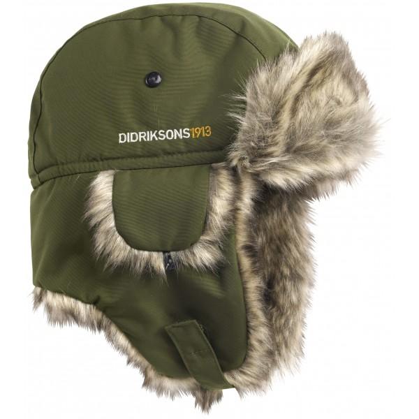 Khaki Green/Peat Helge Kids Hat, Didriksons