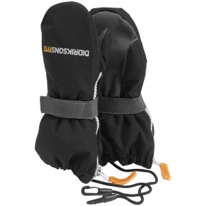 NEWS! Black Zip Kids Mittens, Didriksons