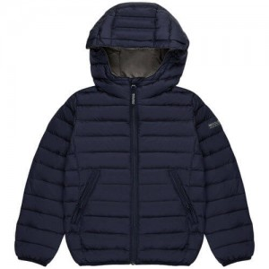 Blå Boys Hooded Down Jacket, Woolrich