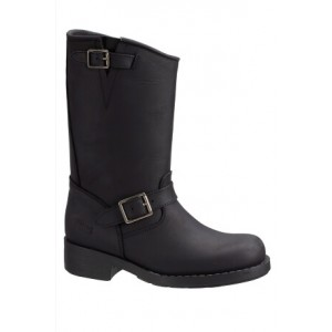 Svart High Biker Boots Original, Johnny Bulls