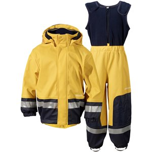 Yellow/Navy Boardman Kids Set, Didriksons