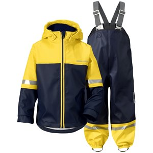 Yellowl/Navy Waterman Kids Set, Didriksons