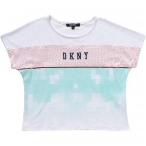 Vit/Turkos Tee, DKNY Child