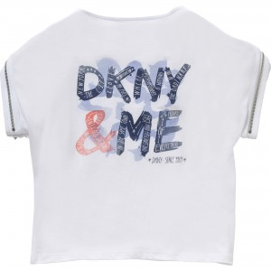 White/Violet Tee Manches, DKNY Child