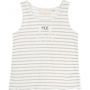 Vit/Off White Tank Top, Une Fille
