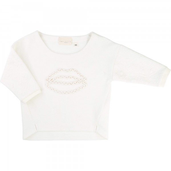 Vit/Off White Sweater, Une Fille