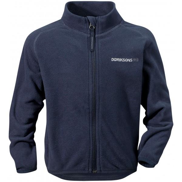 Mörkblå Monte Kids Microfleece Jacket, Didriksons