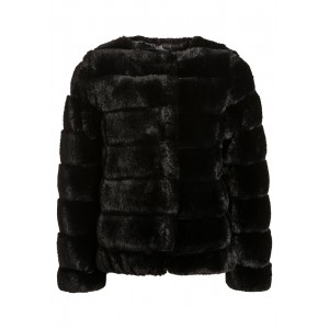 Svart Fake Fur Jacket, DKNY