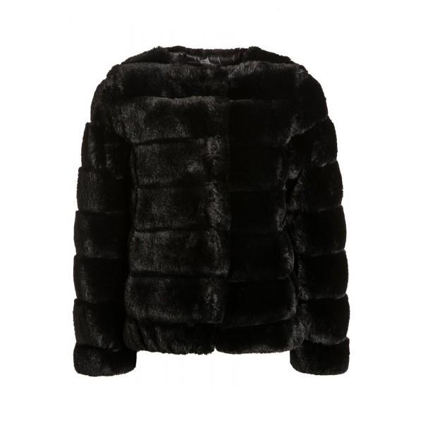 Svart Fake Fur Jacket, DKNY