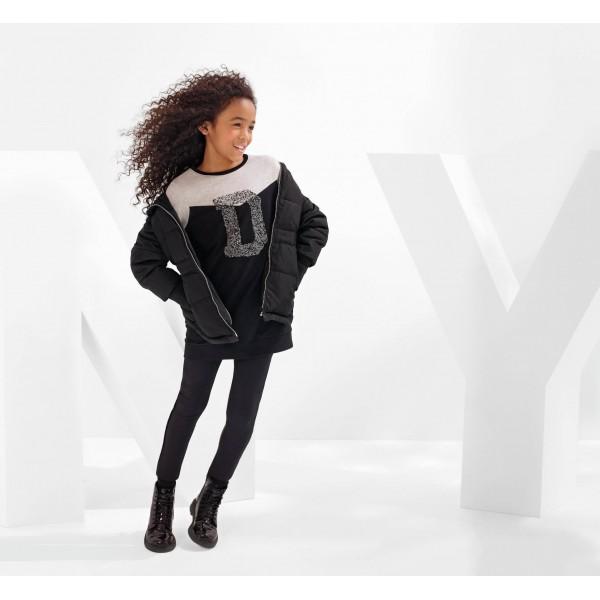 Svart Sleeve Dress, DKNY