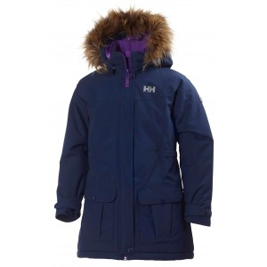 NYHET! Mörkblå/Evening Blue Jr Stella Parka, Helly Hansen