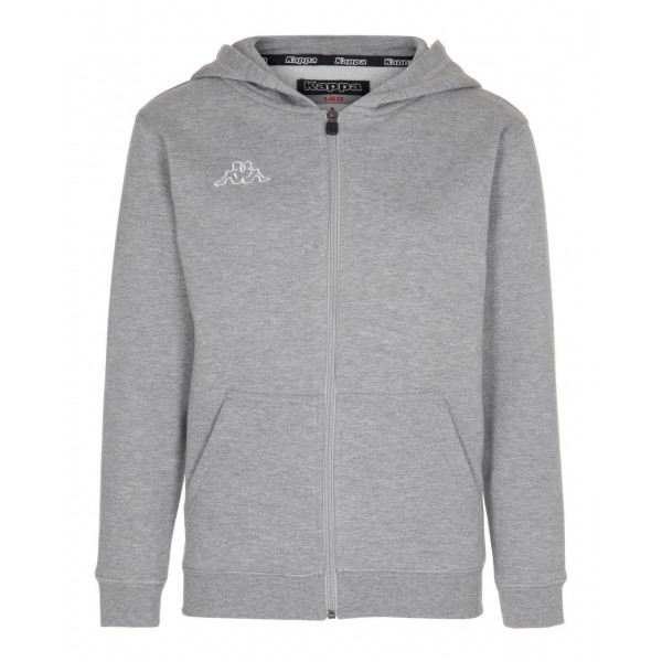 Grey/Melange Jr Sweat Zip Hood Omni, Kappa