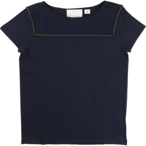 Navy T-shirt La Face Cache, Une Fille