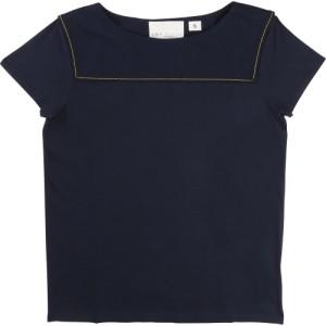 Mörkblå T-shirt La Face Cache, Une Fille