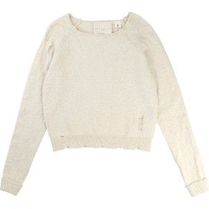 NYHET! Ivory Pullover Ultrasons, Une Fille