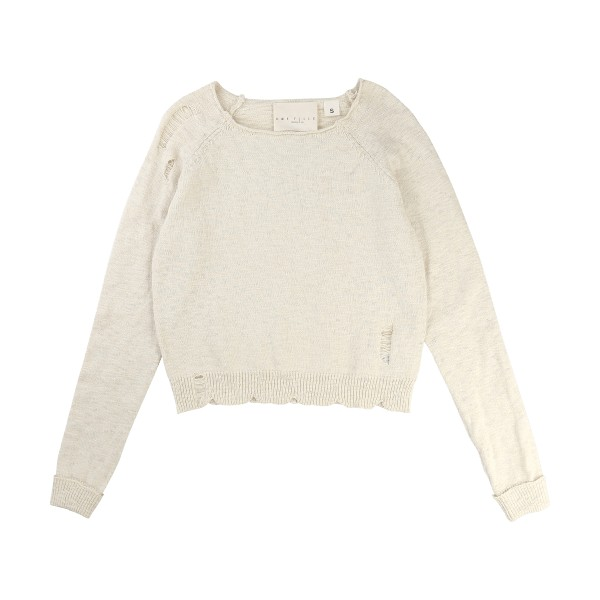 Ivory Pullover Ultrasons, Une Fille