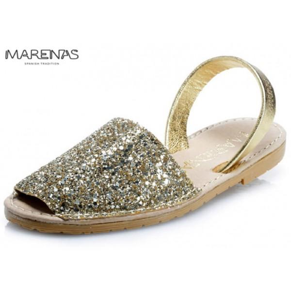 NYHET! Sandalett Glitter Gold, Marenas