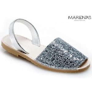Sandalett Glitter Silver, Marenas