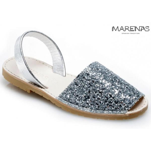 NYHET! Sandalett Glitter Silver, Marenas