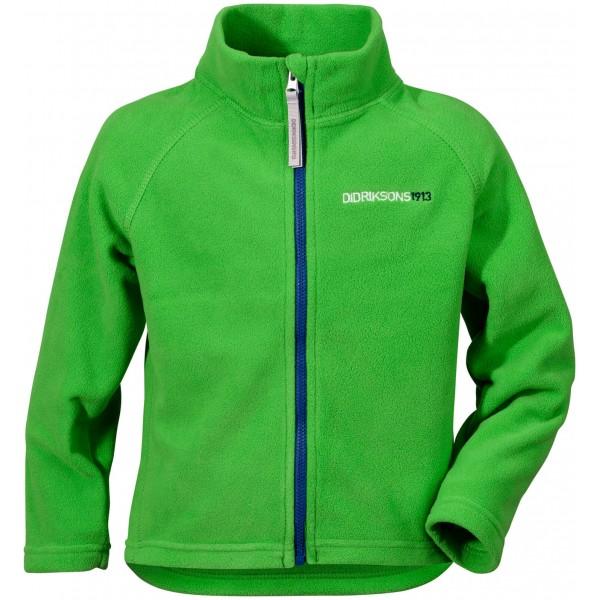 Grön/Kryptonite Green Monte Microfleece Kids Jacket, Didriksons