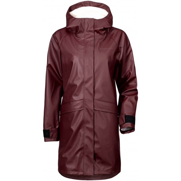 Wine Red/Old Rust Ulla Womens Coat, Didriksons