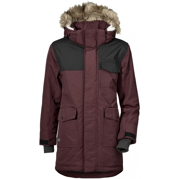 Dark Red/Old Rust Matt Boys Parka, Didriksons
