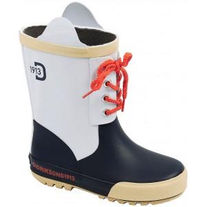 Navy/White Splashman Kids Boots, Didriksons