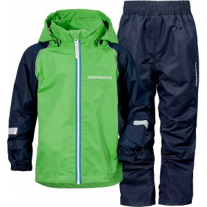 Green/Navy Trysil Kids Set, Didriksons