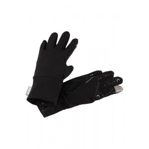 BLACK ZINKENITE SOFTSHELL GLOVES, REIMA