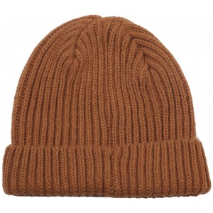 Leather Brown Nilsson Knitted Kids Beanie, Didriksons