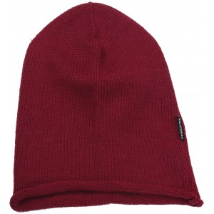 Dark Red Linne Knitted Beanie, Didriksons