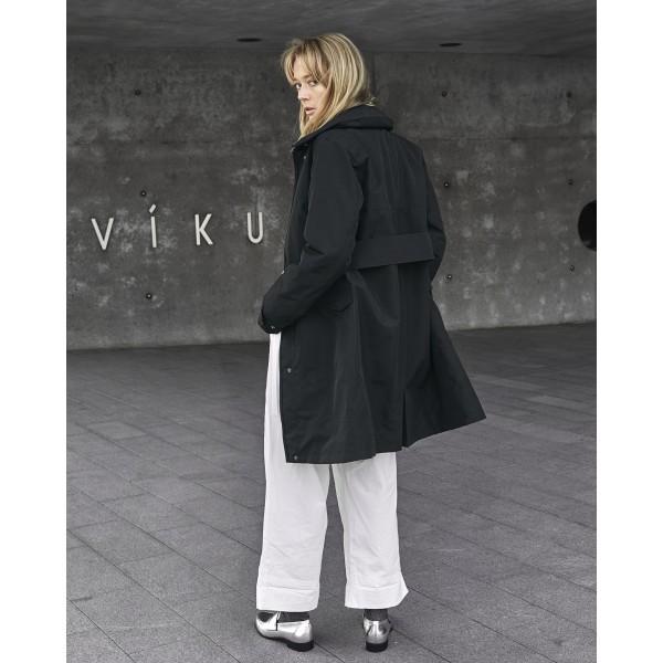 1ad3ee96 Womens Black Didriksons Coat Fashionized Laila xCXwqF6X1