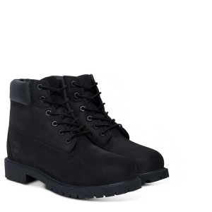 BLACK NUBUCK 6 IN PREMIUM WP BOOT YOUTH, TIMBERLAND