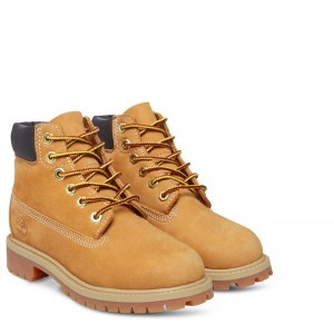 YELLOW NUBUCK 6 IN PREMIUM WP BOOT YOUTH, TIMBERLAND