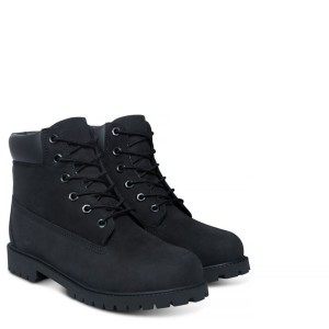 BLACK NUBUCK 6 IN PREMIUM WP BOOT JUNIOR, TIMBERLAND