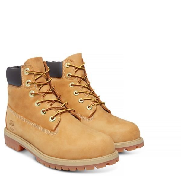 WHEAT NUBUCK 6 IN PREMIUM WP BOOT JUNIOR, TIMBERLAND