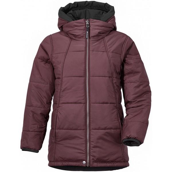 Vinröd/Old Rust Bancroft Reversible Girls Jacket, Didriksons