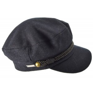 Ink Blue Sophie Military Cap, Seeberger