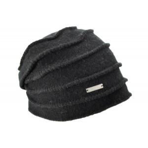 Svart Boiled Headsock Zigzag, Seeberger