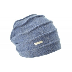 Indigo Blue Boiled Headsock Zigzag, Seeberger