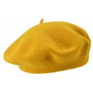 Yellow/Bronze Silia Beret, Seeberger
